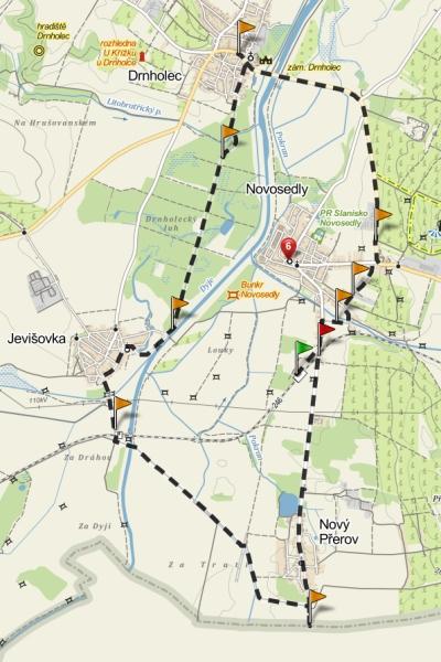 trasa, 20 km s odbočkami
